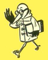 """Marabout portant sous son aile un Marabout Junior avec bordure noire étroite (dit """"petite serviette"""")"""
